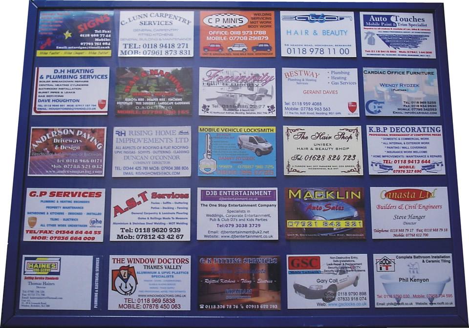 Exelent Business Card Display Board Illustration - Business Card ...